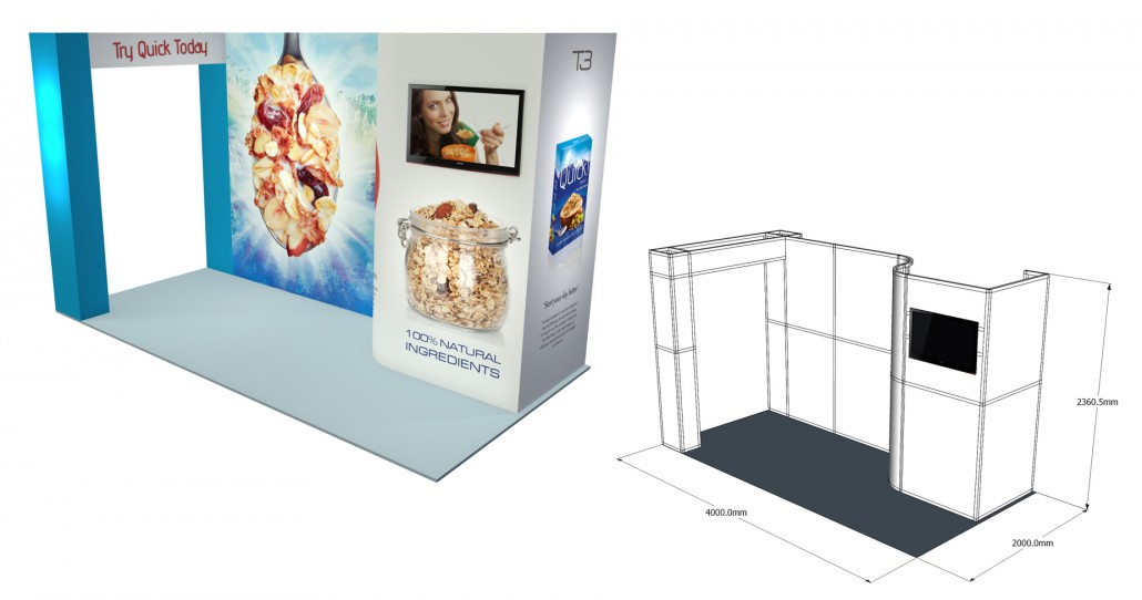 Small Exhibition Stand Yet : T modular display system